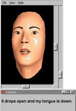 3D animated conversational agent Baldi; caption is below
